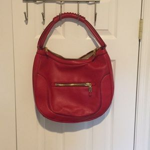 J. Crew Red Leather Bag